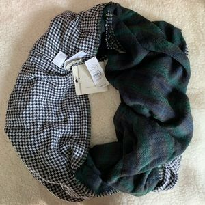 NWT 🍂 Loft Infinity Scarf Plaid & Houndstooth
